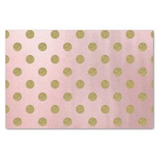 Papel De Seda Chique moderno das bolinhas Glam cor-de-rosa do