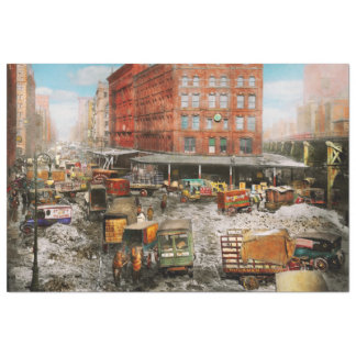 Papel De Seda Cidade - New York NY - colada em uma rotina 1920