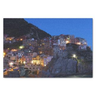 Papel De Seda Cinque Terre Italia na noite