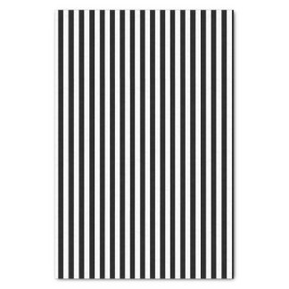Papel De Seda Clássico listrado preto e branco
