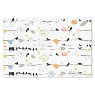 Papel De Seda Colorful_birds em um fio