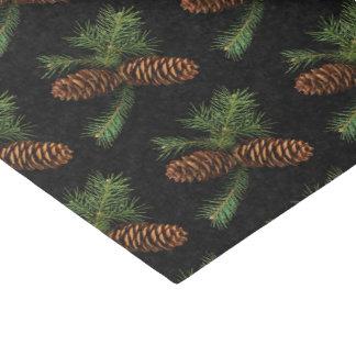 Papel De Seda Cones do carvão vegetal e do pinho da aguarela