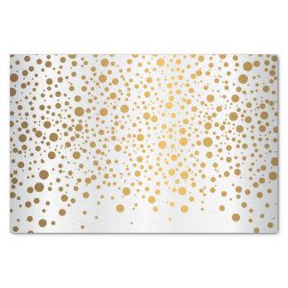 Papel De Seda Confetes brancos e metálicos do ouro