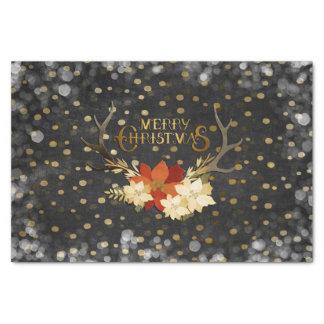 Papel De Seda Confetes florais dos Antlers do Feliz Natal