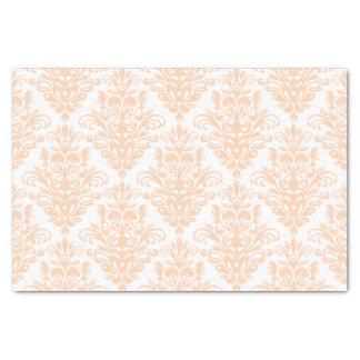 Papel De Seda Cor damasco elegante cor-de-rosa e branca coral