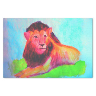 Papel De Seda Coração do leão - desenho da arte do gato grande