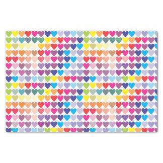 Papel De Seda Corações coloridos femininos do arco-íris