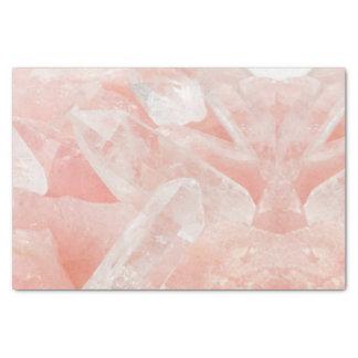 Papel De Seda Cristal de quartzo cor-de-rosa
