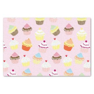Papel De Seda Cupcakes no rosa