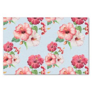 Papel De Seda Customizável floral havaiano do hibiscus tropical