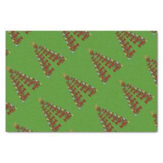 Papel De Seda Da árvore bonito da lagosta do Natal verde náutico