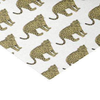 Papel De Seda Desenho manchado chita do gato do leopardo do