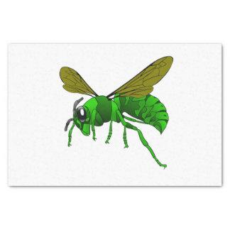 Papel De Seda Desenhos animados verdes e abelha da vespa do
