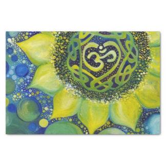 Papel De Seda Design amarelo de Chakra da coroa do girassol