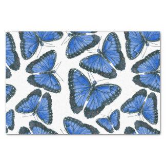 Papel De Seda Design azul do teste padrão de borboleta do morpho