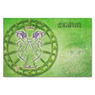 Papel De Seda Design da astrologia do zodíaco dos Gêmeos