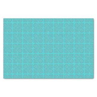 Papel De Seda Design do quadrado da edredão em tons do Aqua