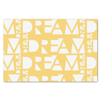 Papel De Seda Design geométrico ideal amarelo do entalhe