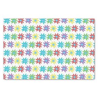 Papel De Seda Design ilustrado floral colorido