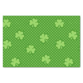 Papel De Seda Dia verde de Patricks do santo do teste padrão do