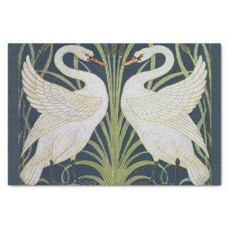 Papel De Seda Dois pássaros de Nouveau do vintage das cisnes