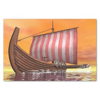 Papel De Seda Drakkar ou navio de viquingue - 3D rendem