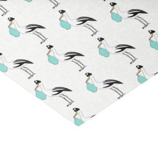 Papel De Seda É uma cegonha que do menino o bebê revela o lenço