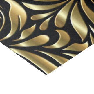Papel De Seda Envolvendo o tecido - drama no preto e no ouro
