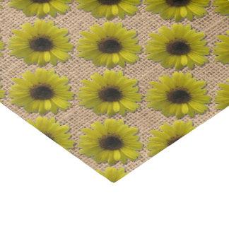 Papel De Seda Envolvendo o tecido - girassóis Chuva-Embebidos