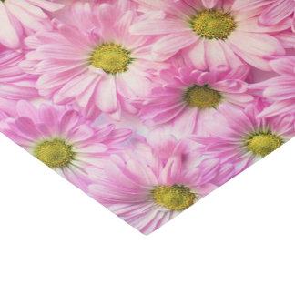 Papel De Seda Envolvendo o tecido - margaridas cor-de-rosa do
