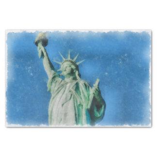 Papel De Seda Estátua da liberdade, pintura das aguarelas de New