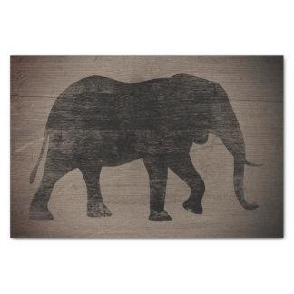 Papel De Seda Estilo rústico da silhueta do elefante africano