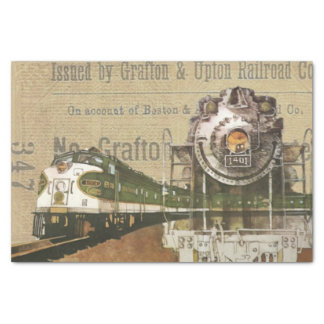 Papel De Seda Estrada de ferro locomotiva do motor de vapor do