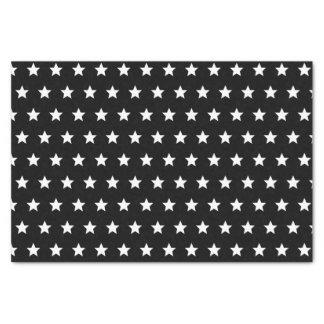 Papel De Seda Estrelas preto e branco