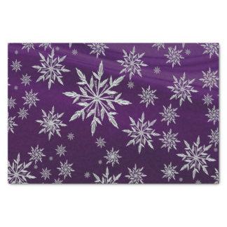Papel De Seda Estrelas roxas do Natal com o cristal de gelo