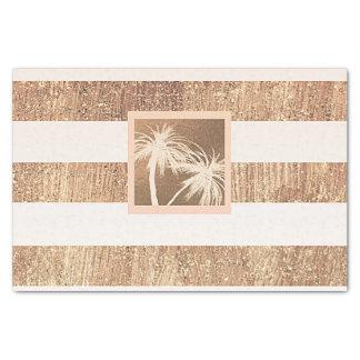 Papel De Seda Faísca moderna das palmeiras tropicais do cobre &