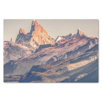Papel De Seda Fitz Roy e montanhas de Poincenot Andes -