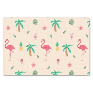 Papel De Seda Flamingos no verão