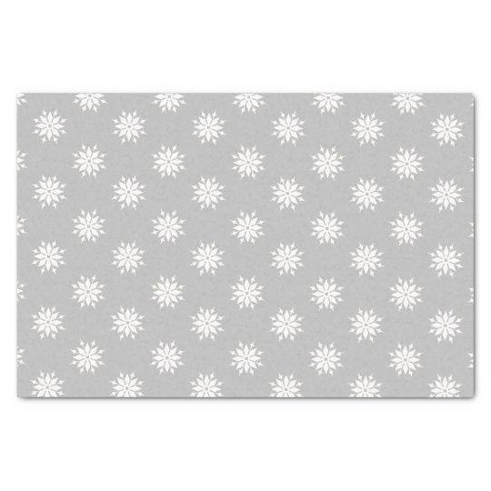 Papel De Seda Flocos de neve cinzentos do branco do Natal