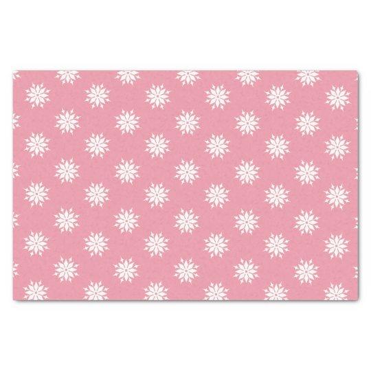 Papel De Seda Flocos de neve cor-de-rosa do branco do Natal