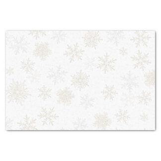 Papel De Seda Flocos de neve da prata e do ouro