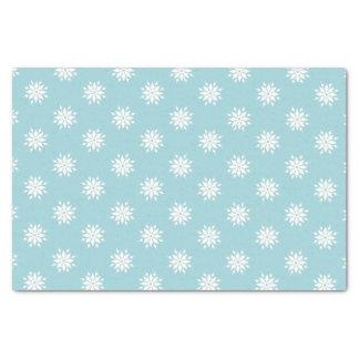Papel De Seda Flocos de neve do branco do Natal do azul de gelo
