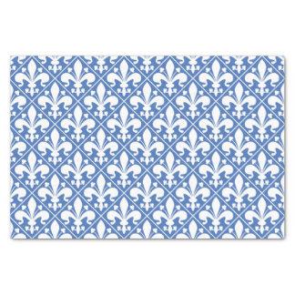 Papel De Seda Flor de lis francesa azul e branca bonito