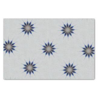 Papel De Seda Flor elegante do caleidoscópio das cinzas azuis