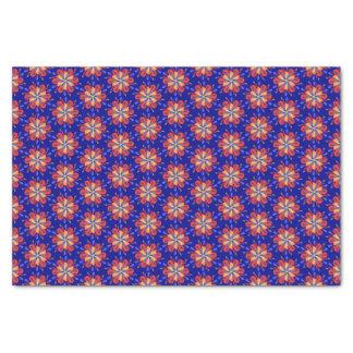 Papel De Seda Flores de Starburst em vermelho e azul corajosos