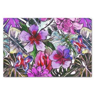 Papel De Seda Flores exóticas da selva do hibiscus tropical