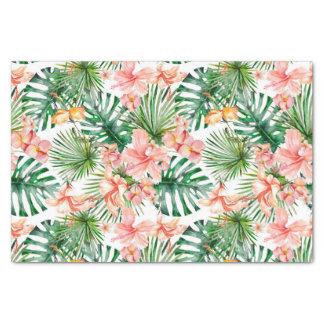 Papel De Seda Flores exóticas tropicais do hibiscus da selva