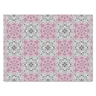 Papel De Seda Flourish Rococo cor-de-rosa do teste padrão