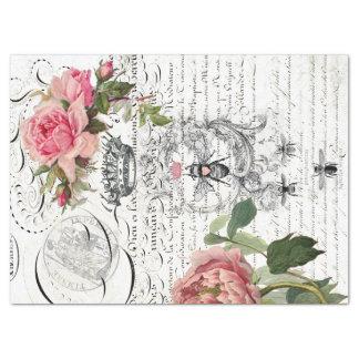 Papel De Seda Folha floral de Decoupage do roteiro da abelha de