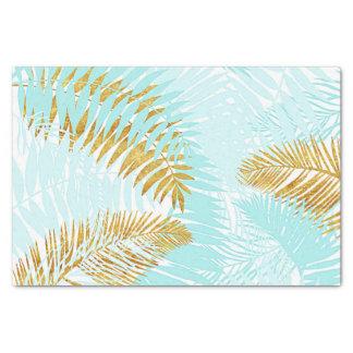 Papel De Seda Folhas de palmeira Aloha-Tropicais do Aqua da